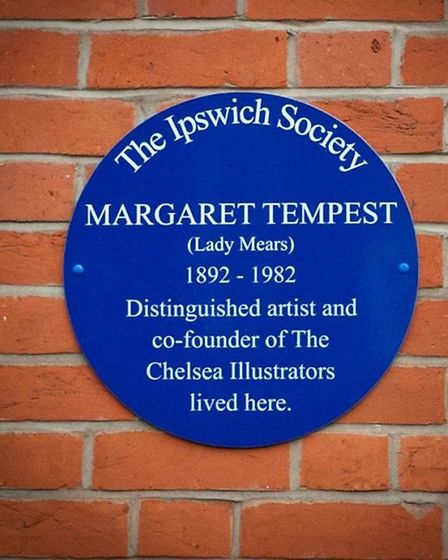 Blue plaque for Margaret Tempest at the corner of St Edmund's Road and Henley Road, Ipswich.