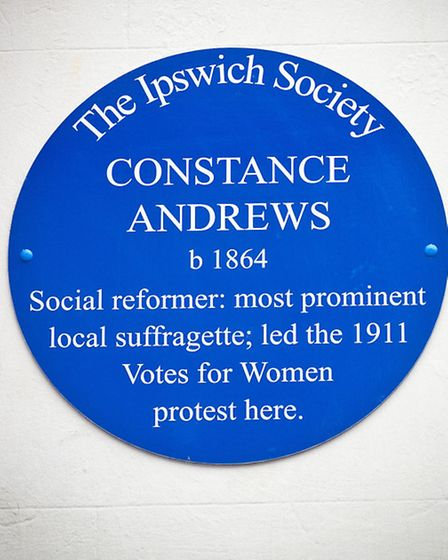 Blue plaque for Constance Andrews at Arlingtons Brasserie, Museum Street, Ipswich.