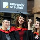 Graduating students (no photo caption issued). Pic: James Fletcher/University of Suffolk.