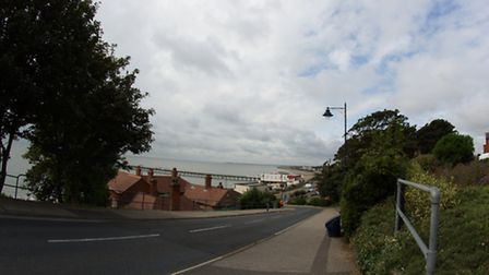 Stock image of Convalescent Hill in Felixstowe.