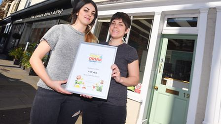 Profile of Applaud Café, winner of Food and Drink award. Suffolk Magazine. Beth Cook and Hannah Hunt