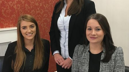 Prettys new trainee solicitors (L-R): Abigail Hubert, Sian Llewelyn and Anna Mulholland
