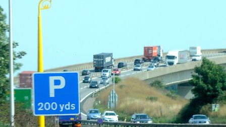 Average speed cameras on the A14 by the Orwell Bridge - but many drivers are still ignoring the warn