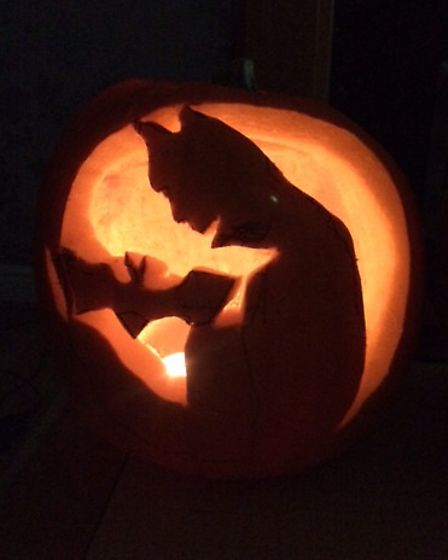 Pumpkins carved by Alison Connors and her family