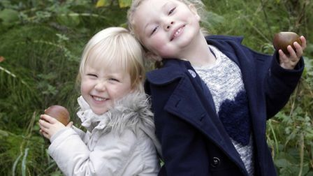 Annual Apple Day at Holywells Park, on Saturday.Isabelle Lipscombe and Isabella Smart.