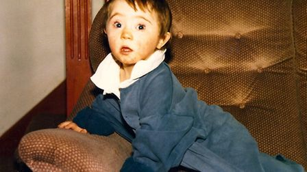 Barry Hunt as a child