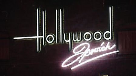 The Hollywood sign that would illuminate the outside of the building