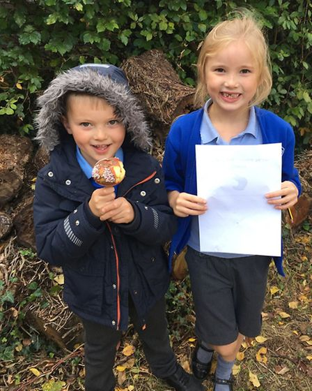 Children at Rushmere Hall Primary School welcomed their new headteacher with an apple-themed event
