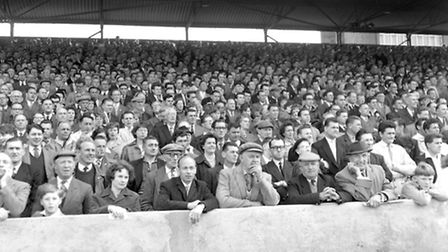 The crowd in April 1963 - do you recoginse anyone?