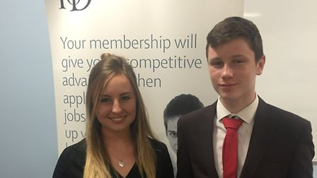 One sixth form is continuing its links with the IoD - Institute of Directors Georgie O'Callaghan an