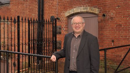 David Ellesmere outside the former Hollywood Club in Ipswich.The building is going to be restored.
