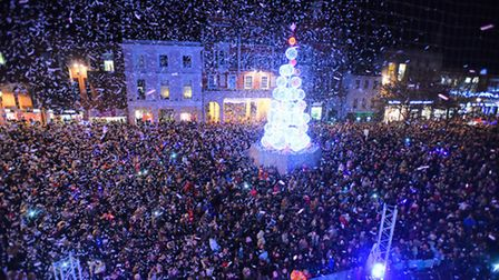 Town mayor Roger Fern will be officially switching on Ipswich's Christmas lights.