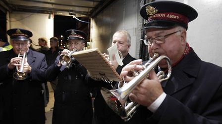 Felixstowe Salvation Army led the crowds in a Christmas carol sing-along