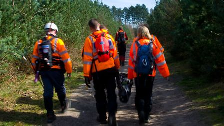 Members of Suffolk Lowland Search and Rescue training around the county - photo by Pete Gabriel