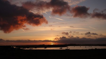 Autumn sunset over the River Alde at Slaughden - Nick Boulter