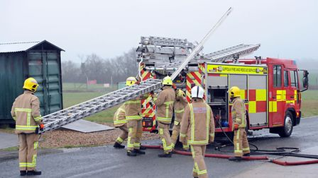 On-call firefighters complete their training at RAF Wattisham.