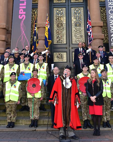 The 2016 Poppy Appeal was launched in Ipswich on Saturday, Picture: Sarah Lucy Brown