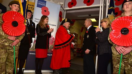The 2016 Poppy Appeal was launched at Ipswich Town Hall on Saturday. Picture: Sarah Lucy Brown