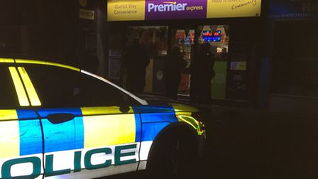 Police at the scene of an armed robbery at Premier in Garrick Way, Ipswich