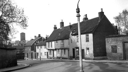 Stoke Street, Ipswich, at the junction with Belstead Road, in the mid 1930s. All of the houses featu