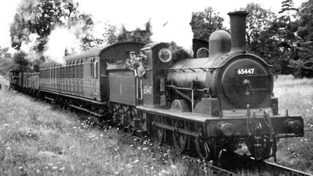 George Brunnin's father worked for the Mid Suffolk Light Railway before moving to Ipswich. This phot