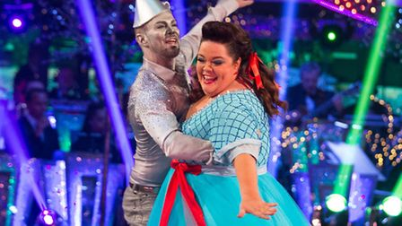 Lisa Riley and Robin Windsor reached the semi-final of Strictly in 2012. Pictured in a Christmas spe