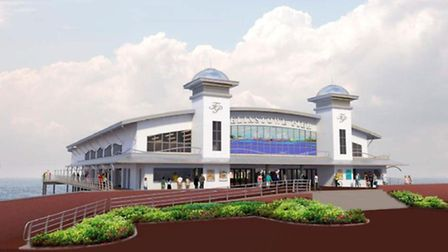 An artist's impression of the new Felixstowe Pier