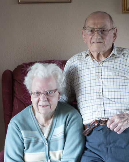 Ipswich war veteran, Chief Communications Yeoman in the Royal Navy, Gerald Hayles with his wife, Pe