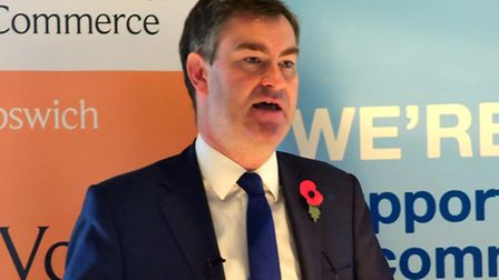 David Gauke MP, Chief Secretary to the Treasury, speaking at the Suffolk Chamber of Commerce in Grea