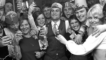 Ipswich Town football legend Mick Mills celebrates his 21st birthday at the First Floor Club in earl