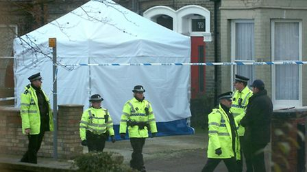 Police at Steve Wright's home in London Road