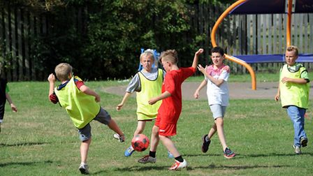 Free sports events are laid on during school holidays in Ipswich to keep youngsters active
