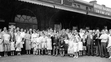 Best clothes were worn for a day out in the 1950s for staff and families of the East Anglian Daily T