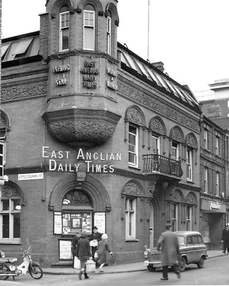 The offices and printing works of the East Anglian Daily Times and Evening Star in Carr Street, Ipsw