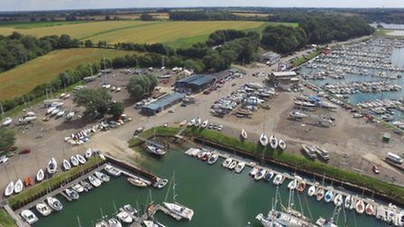 Jonathan Dyke's photograph of the Suffolk Yacht Harbour