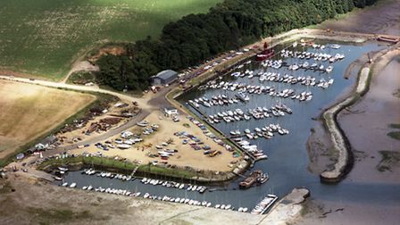 The 1970s photograph of the marina at Levington taken by Jim Empson