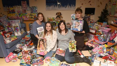 Friends Gemma Read and Zoe Barker have raised �2,250 and spent it on presents for the children's war