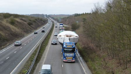 An abnormal load (a large boat) is to be escorted through Suffolk by police on February 28. Stock im