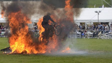 Stunt riders at the Hadleigh show. Picture: Peter Norris