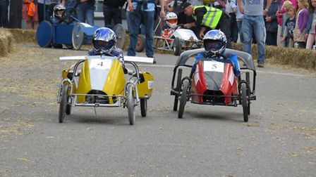 Spent a wonderful Sunday afternoon on the market hill in Framlingham watching the Go Cart racing. Pi