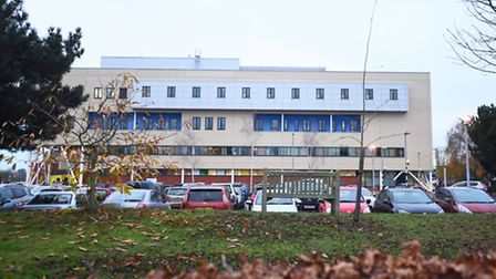 Police respond to a reported stabbing at Ipswich hospital.