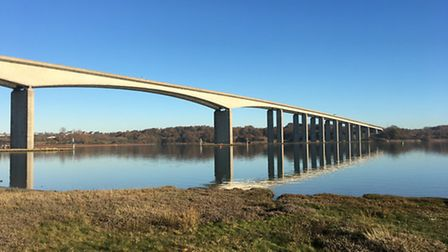The Orwell bridge on a clear day. By Sue Goodman.