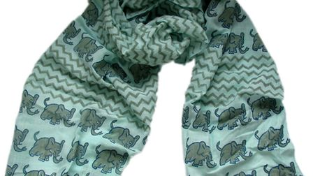 Blue elephant scarf from Where Does It Come From?