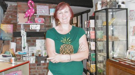 Independent shop owner Cathy Frost of St Peter's Street, Ipswich