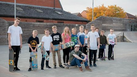 Skaters in Kesgrave currrently have to use Woodbridge skatepark (pictured) or Ipswich