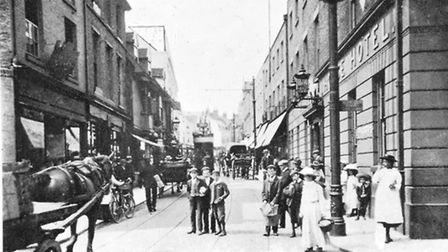 Tavern Street, Ipswich, from the junction of Carr Street, around 1910