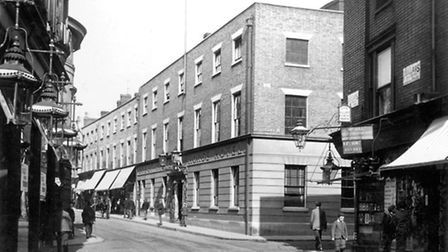 The Great White Horse Hotel as it was in the 1890s. Photo courtesy of David Kindred