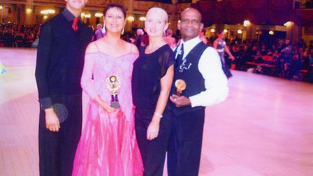 The couple at Blackpool Winter Gardens medal competition final in November.