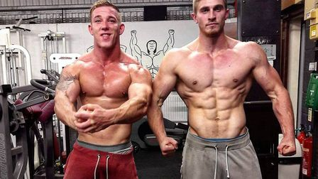 Jake Allen, 26, from Trimley St Martin (right), who is the 11th Strongest Man in the World in the un
