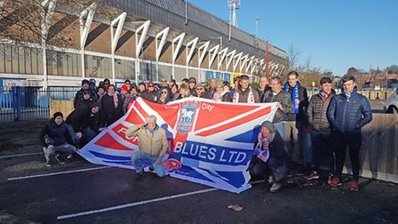 D�sseldorf Fortuna supporters are visiting Portman Road to cheer on the Blues today